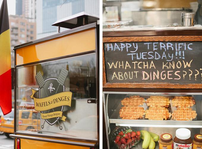 amazing belgium waffle truck at columbus square in new york