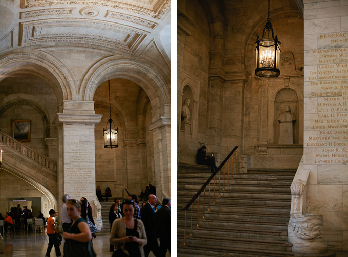 the grand lobby in the new york city public library