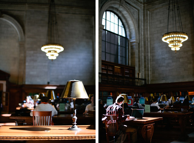 reading room in the new york city library