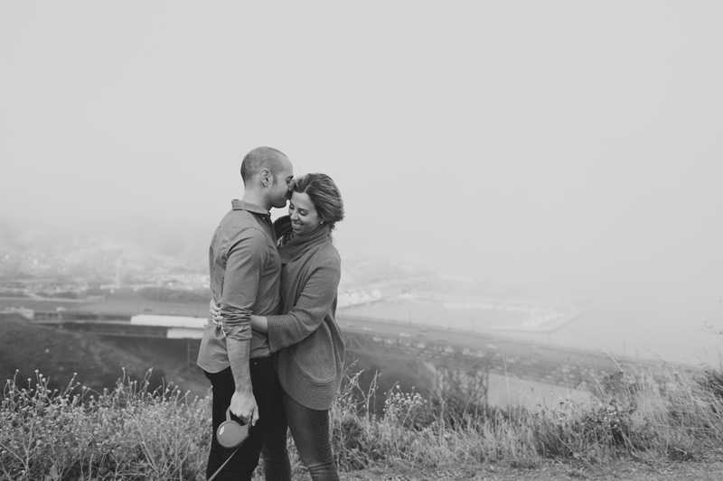 San Francisco marin headlands engagement photos