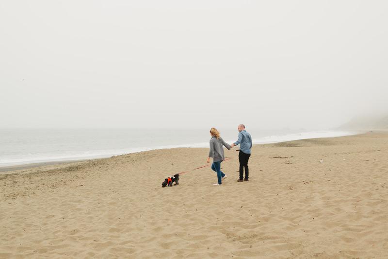 baker beach engagement photography