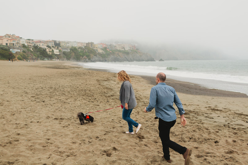 san fran baker beach engagement photos