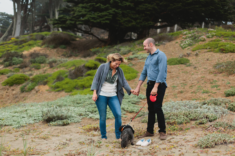 baker beach san fran engagement
