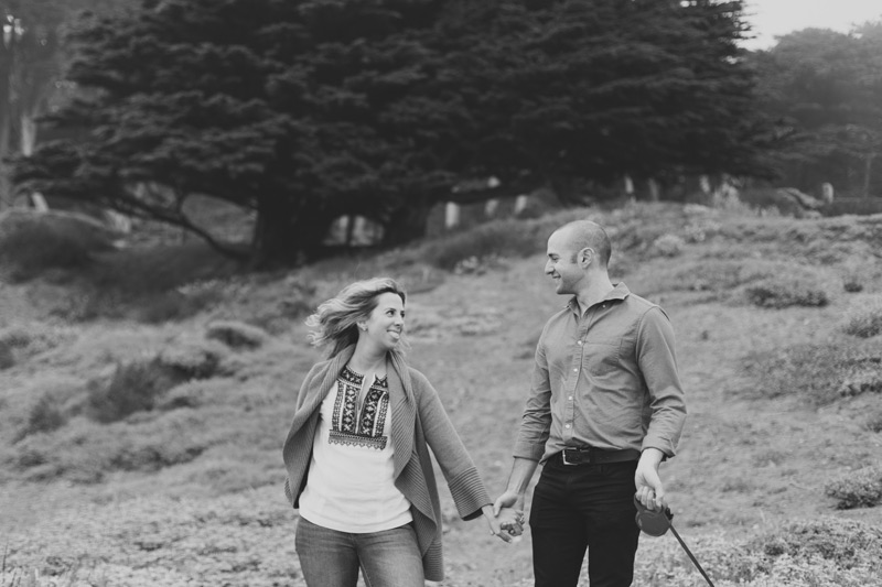 sf beach engagement photos