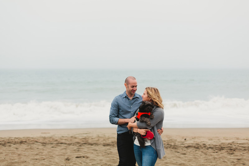 beach engagement photos california