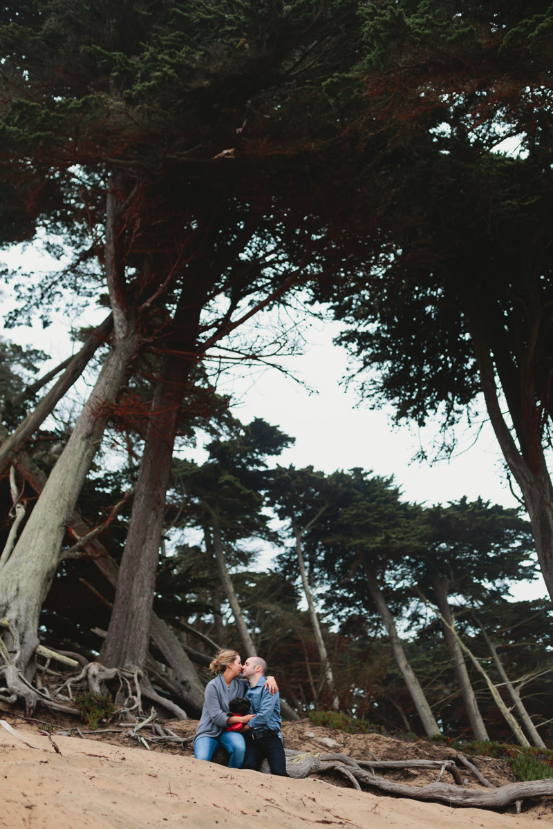 baker beach san fran engagement photography