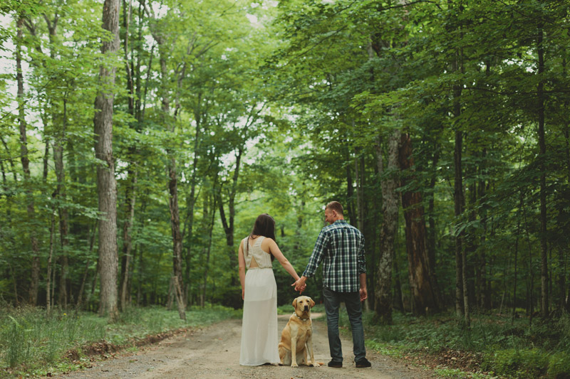 Bohemian Inspired Cottage Engagement Session