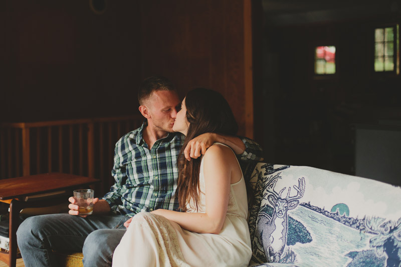 Vintage Cottage Engagement Pictures