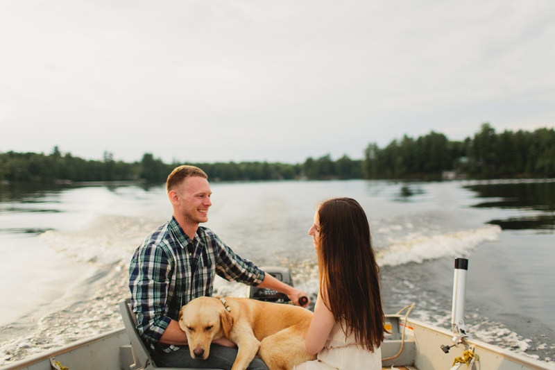 Muskoka Engagement Photo Shoot on the Lake