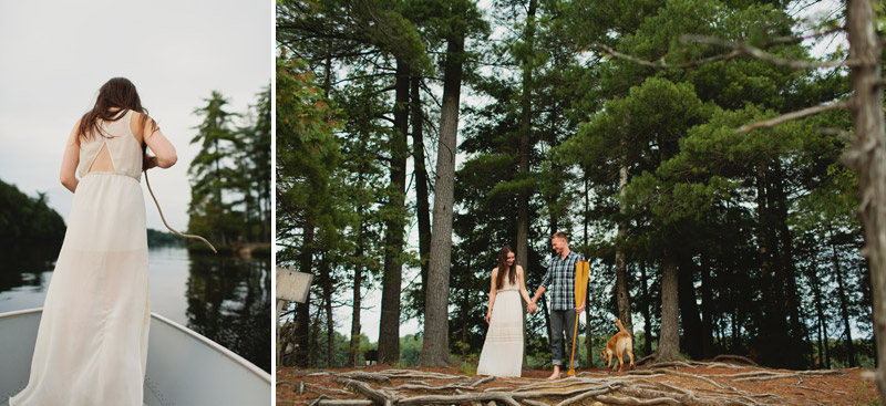 Muskoka Engagement Session on an Island