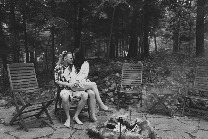 Cottage Engagement Photos Bonfire