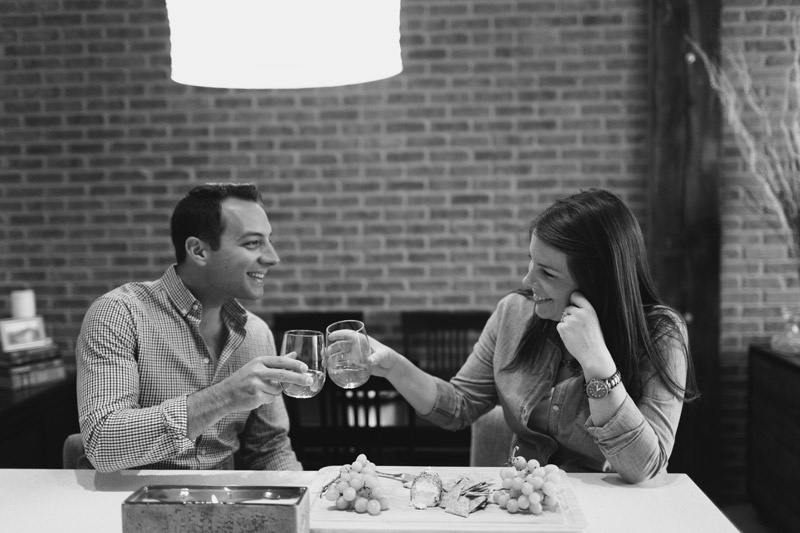 at home engagement pictures