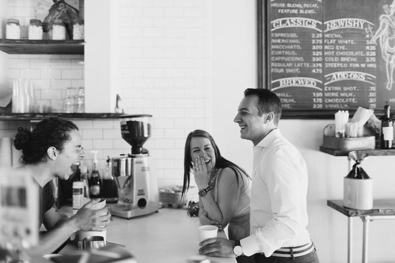 cafe engagement photos toronto