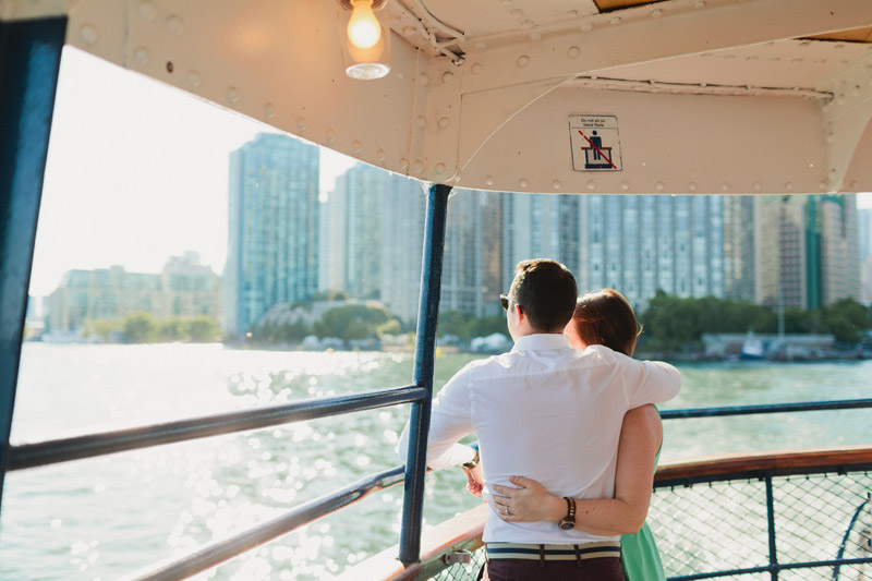 toronto ferry engagement photos