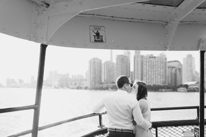 centre island ferry engagement photos