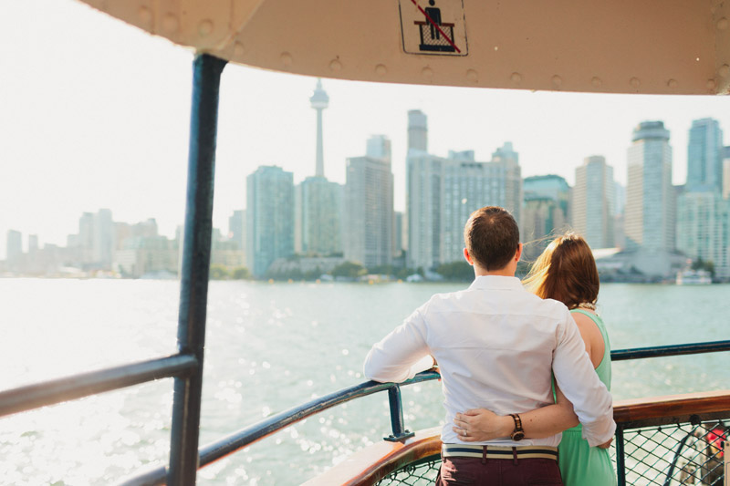 toronto ferry engagement pictures