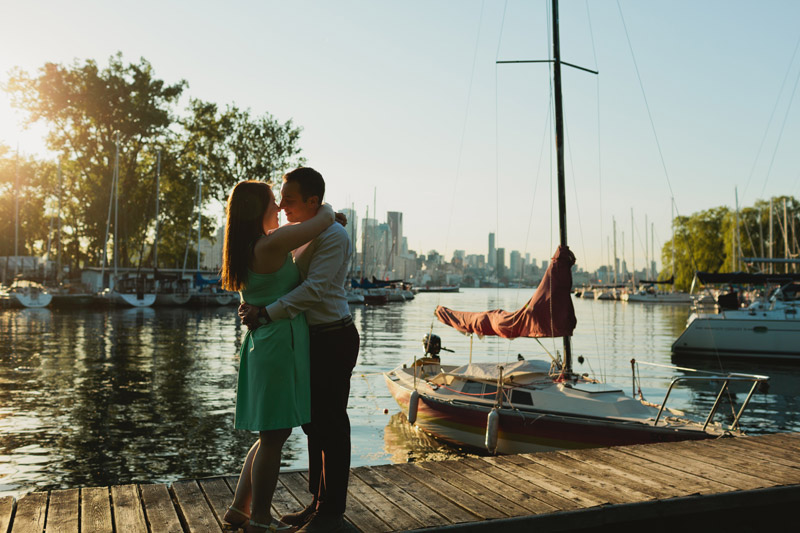 toronto island marina engagement photos