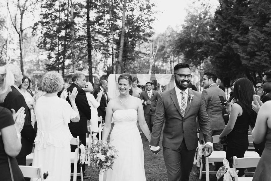 holland marsh wedding ceremony photos