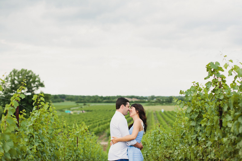 ravine vineyard engagement session