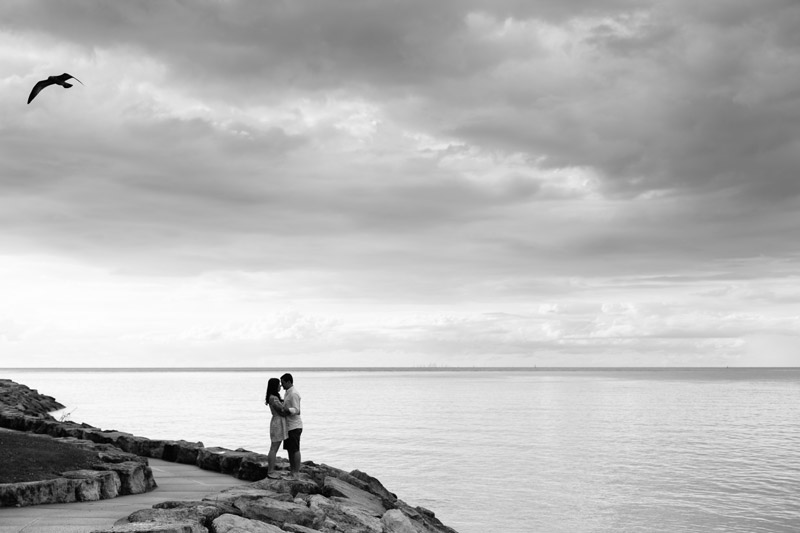 engagement photos on the lake