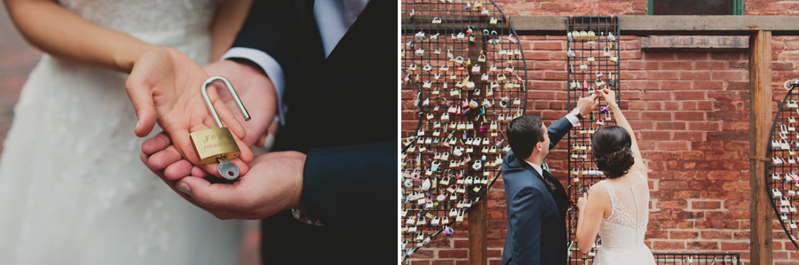 love lock wall distillery district
