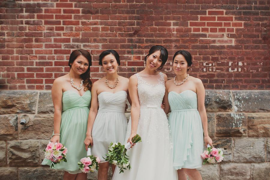 bridal party pictures distillery district
