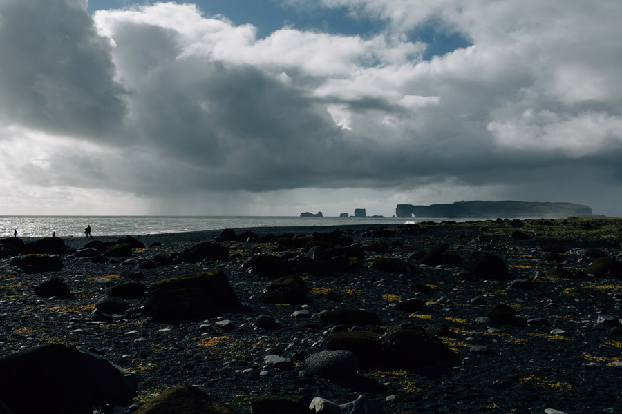 Black sand beach Iceland Dyrholaey