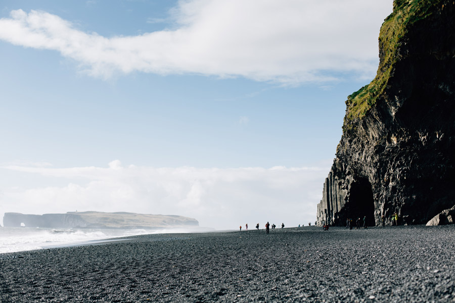 Black sand beach Iceland photos