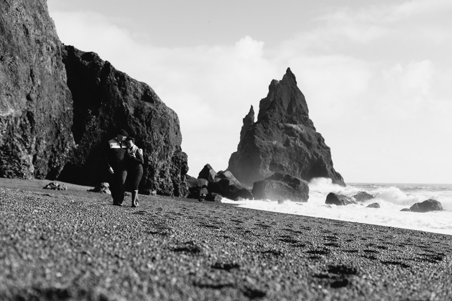 Black sand beach couples pictures