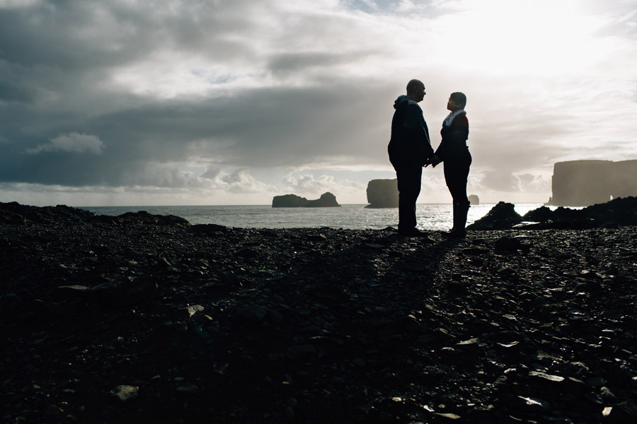 Dyrholaey Iceland couples photos
