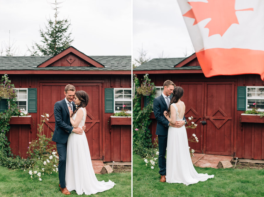 Rustic farm wedding portraits