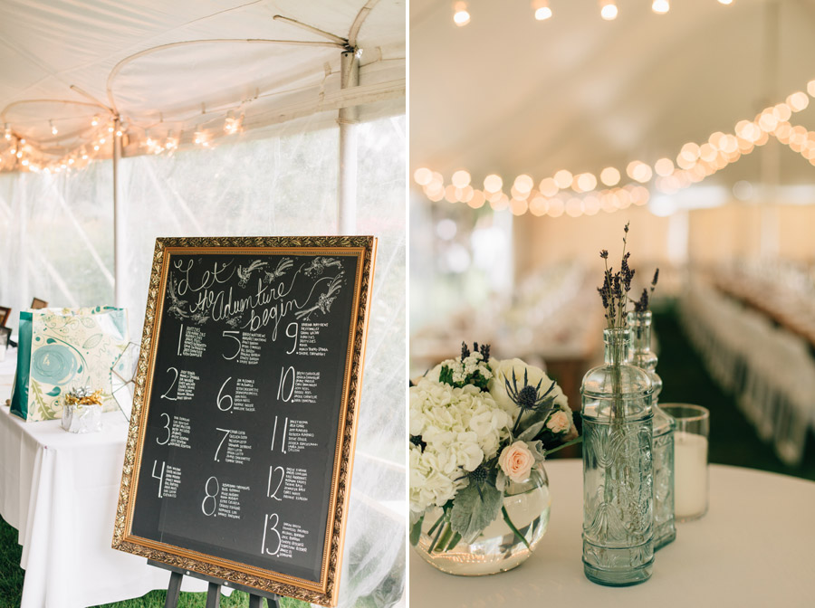chalkboard reception seating chart