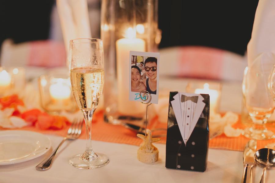 Destination wedding reception ideas seating card