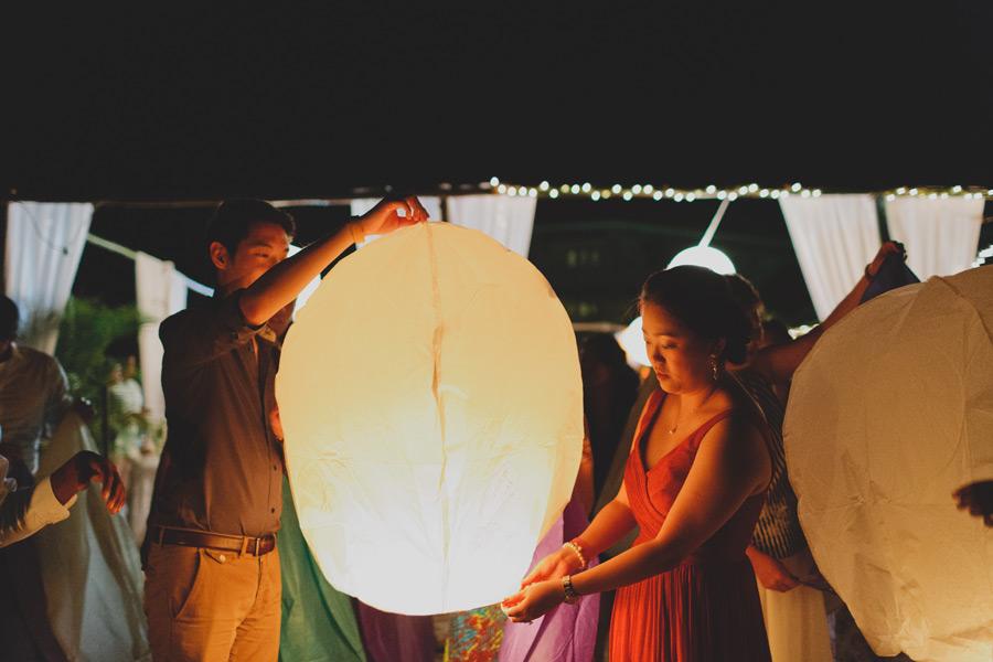 Lantern lighting weddings