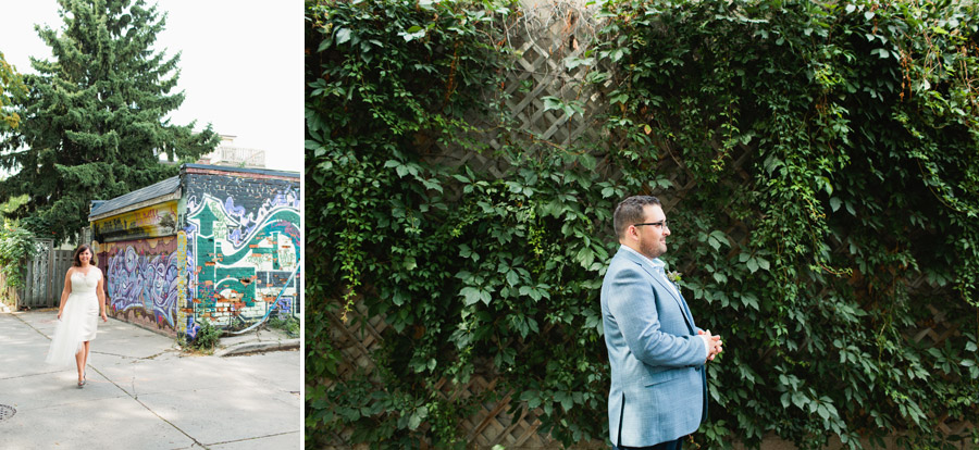 Wedding photos alleyway Toronto