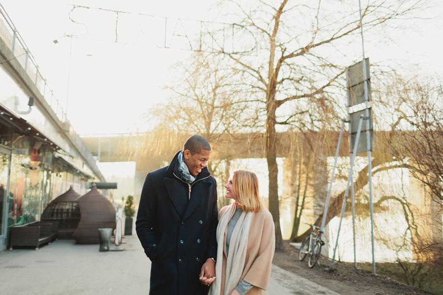 Stockholm couples portrait