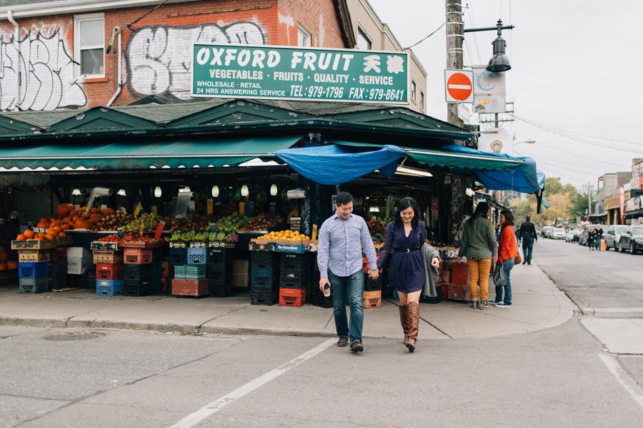 Kensington market engagement pictures