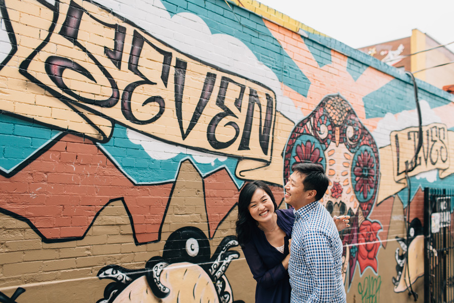 Kensington market engagement session