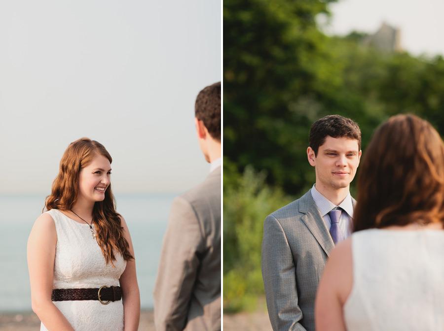 Bluffer's park wedding ceremony