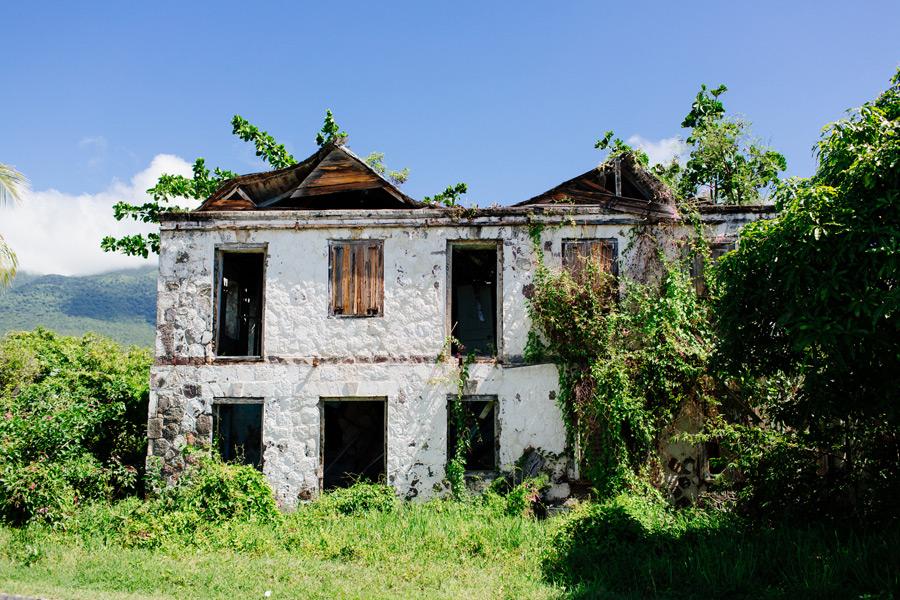 abandoned houses Nevis island