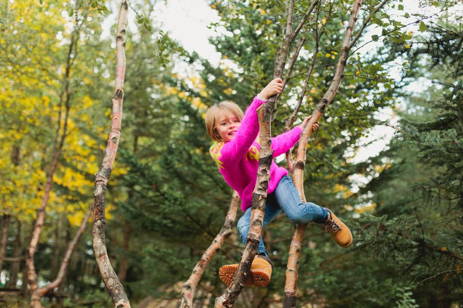 Girl in tree Reykjavik