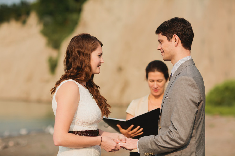 Wedding ceremony at Bluffer's park