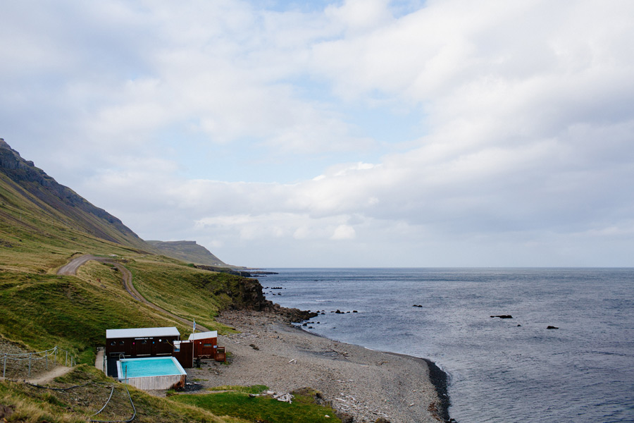 Iceland outdoor swimming pool
