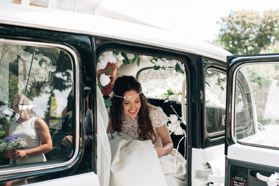 vintage wedding vehicle