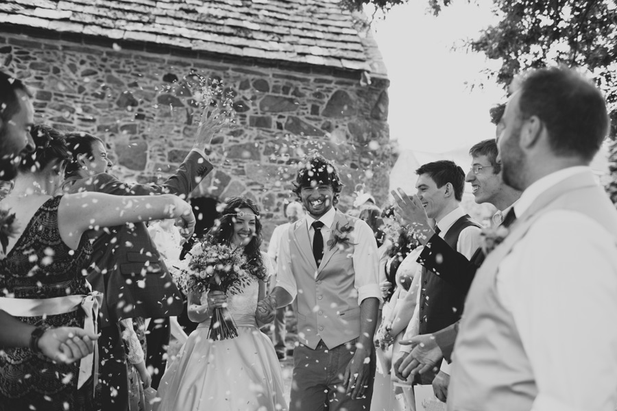 Wedding confetti photos