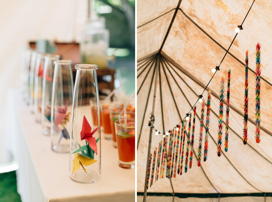unique wedding decor ideas paper cranes