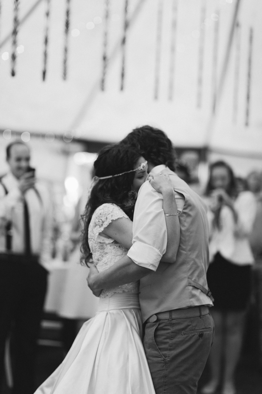 Romantic first dance wedding photo