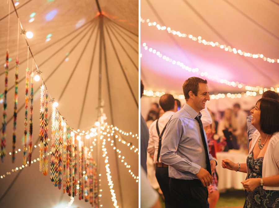 one thousand paper cranes wedding decor