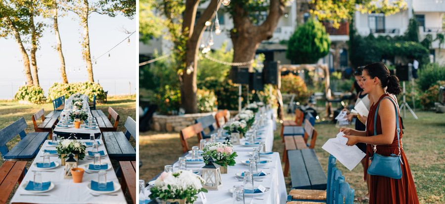 outdoor rustic wedding by the sea