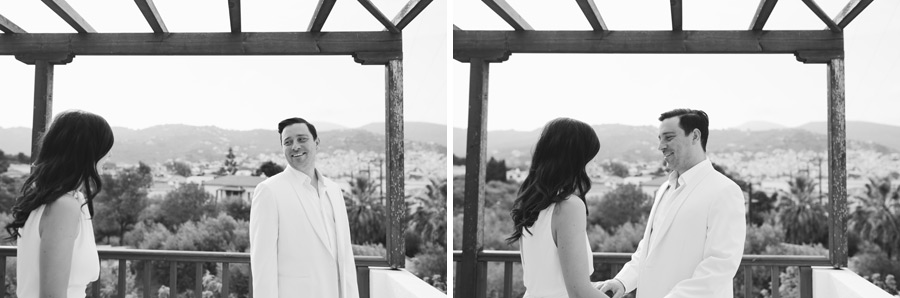 Skopelos village hotel wedding preparation